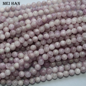 Image 2 - Meihan оптовая продажа A + натуральный мадагаскарский кунцит 7,2 7,8 мм и 8 мм + 0,2 Гладкий Круглый драгоценный камень для изготовления ювелирных изделий своими руками