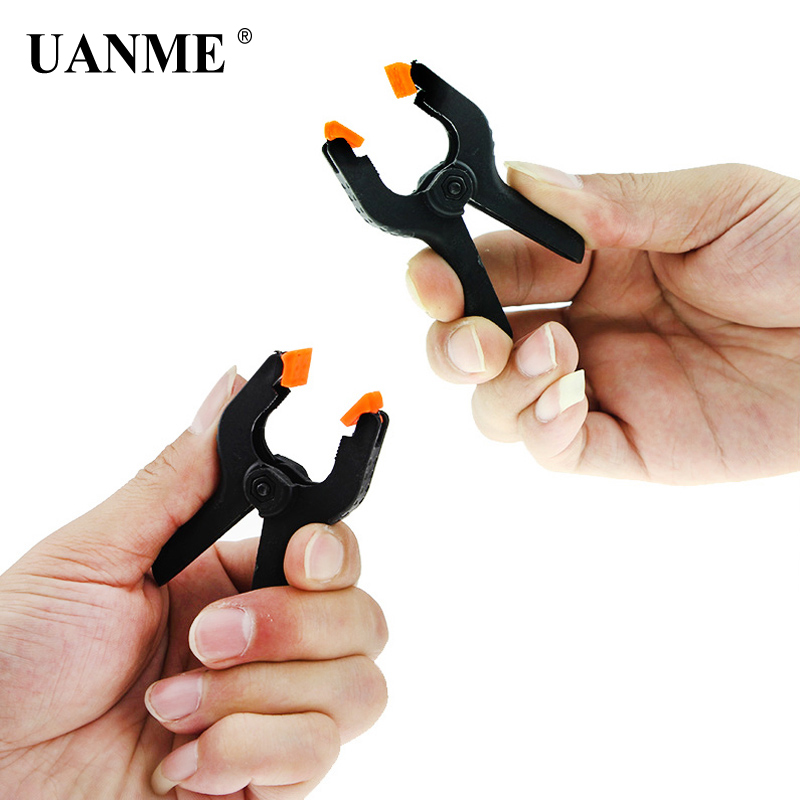 UANME 5Pcs 2inch 65mm Phone Tablet LCD Digitizer Screen Fastening Clamp Non-slip Handle Repair Hand Tool Plastic Clip Fixture