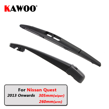 KAWOO Car Rear Wiper Blade Blades Back Window Wipers Arm For Nissan Quest Hatchback (2013 Onwards) 305mm Auto Windscreen Blade sliverysea rear windscreen wiper and arm for honda airwave 2009 onwards 14 5 door wagon high quality iso9000 natural rubber