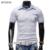 Mens polo marcas camisa de 2017 hombres de moda casual delgado de bolsillo del patrón de impresión de manga corta de los polos de los hombres jerseys x2