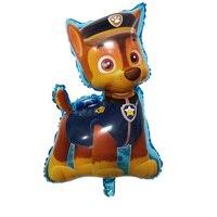 Jf送料無料20ピース/ロット犬パトロールマーシャル&チェイス箔風船子供のおもちゃ誕生日パーティーの装飾風