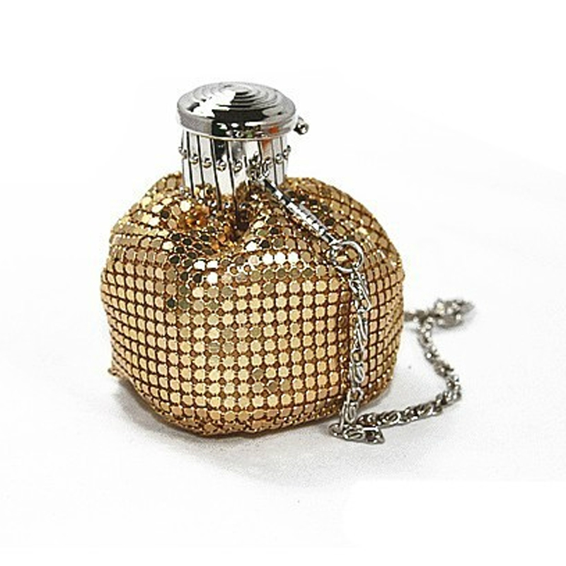 Bottle shape Ladies Mini Aluminum Clutch Bag Women Casual Coin Purse Money Bag Evening Party Handbags Dinner Bolsas Feminina