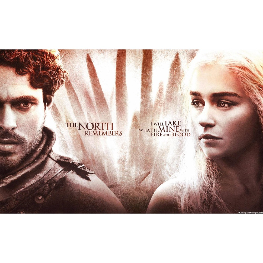 Game of Thrones (A song of Fire and Ice ) Daenerys Targaryen with Jon Snow Playmat Board Game Cards playmat