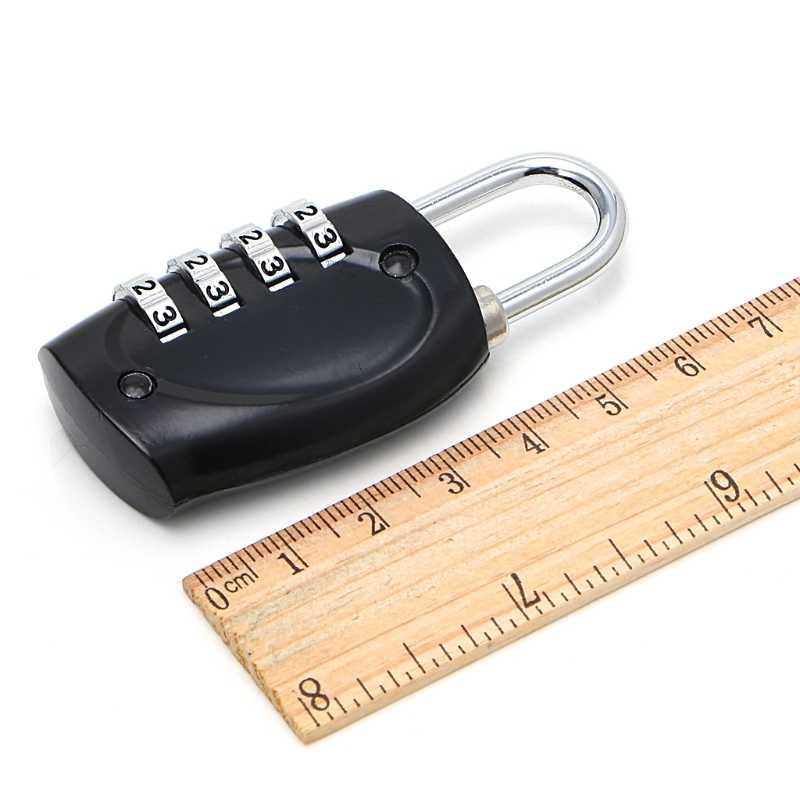 US304 4 Quadrante Cifre Password di Blocco Lucchetto a Combinazione Valigia Dei Bagagli In Metallo Codice Password di Blocco Lucchetto
