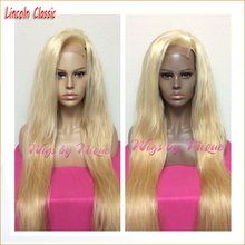 High Quality 613 Blonde Full Lace Wig Glueless Lace Front Wig natural straight Human Hair Wigs With free parting Freeshipping