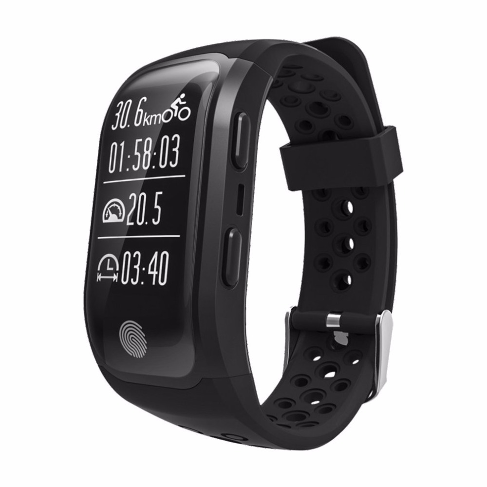 S908 Bluetooth GPS Tracker Wristband IP68 Waterproof Smart Bracelet Heart Rate Monitor Fitness Tracker Smart Band носки мужские гранд цвет серый 2 пары zc113 размер 29
