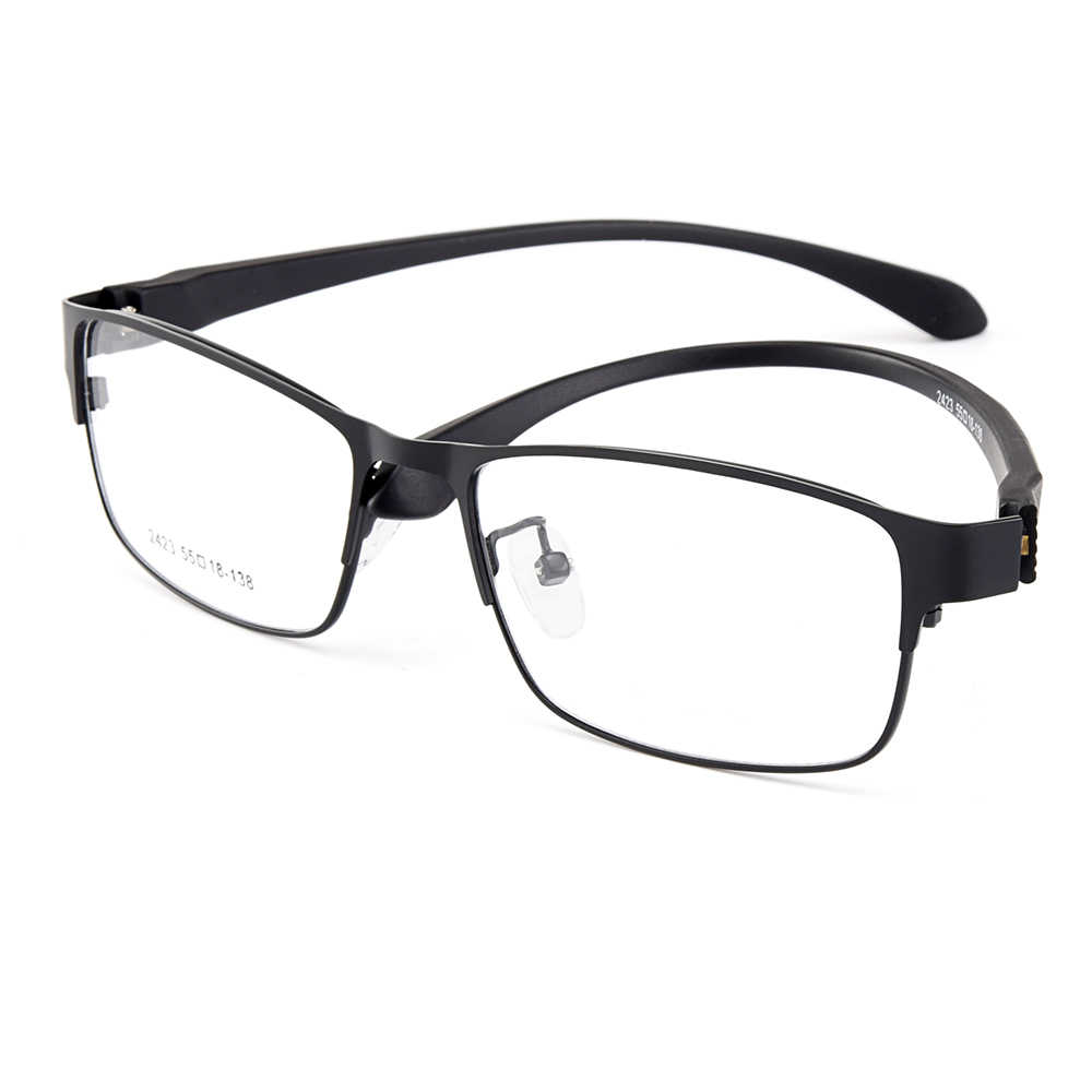 Gmei Optical Men Titanium Alloy Eyeglasses Frame for Men Eyewear Flexible Temples Legs IP Electroplating Alloy Spectacles Y2423