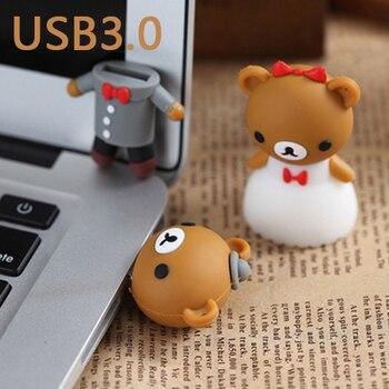 NEW Cartoon Bear Womens And Mens/Bride/Groom Usb Flash Drive 3.0 Memory Card USB Stick Key Pen Drive 8GB-2TB Pendrive Toys Gifts