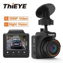ThiEYE Мини Автомобильный dvr камера Dash Cam 145 градусов тире камера Full HD 1296 P видео рекордер g-сенсор 1,5 «видеорегистратор ночного видения
