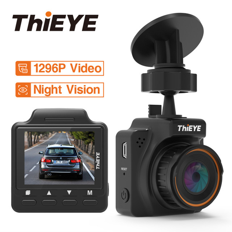 ThiEYE Mini caméra DVR de voiture caméra tableau de bord 145 degrés caméra de bord Full HD 1296 P enregistreur vidéo g-sensor 1.5