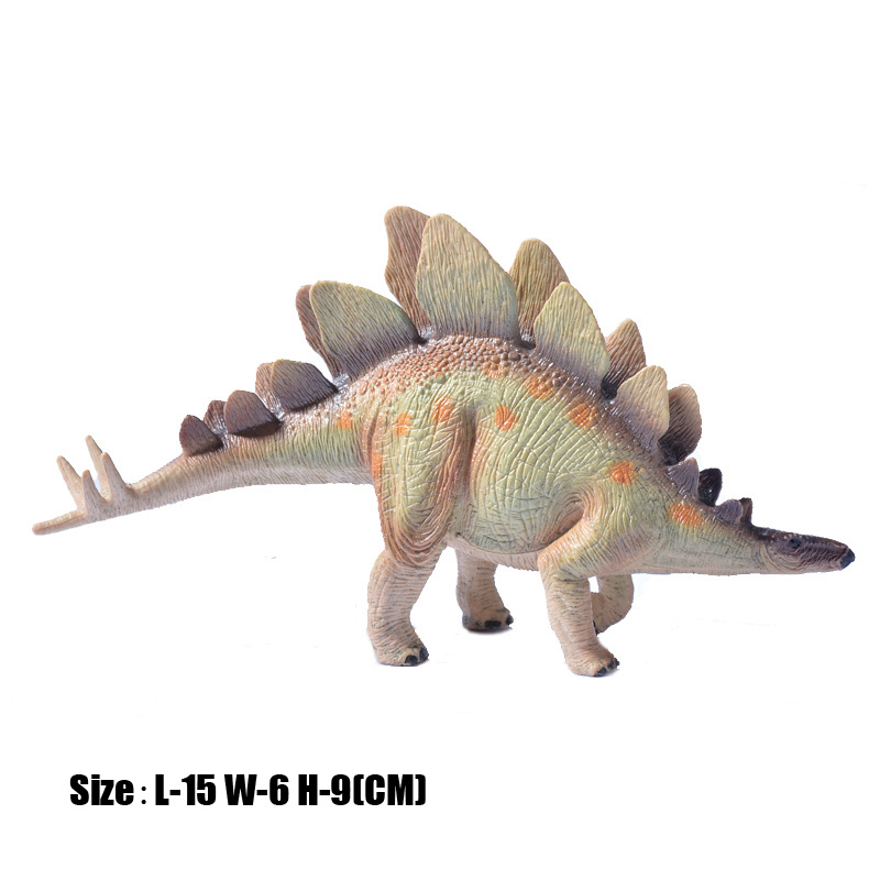 Classic Jurassic Dinosaurs Solid PVC High Quality Giganotosaurus T-Rex Stegosaurus Model Action Figure Toy For Kids Gifts oenux jurassic carnivorous giganotosaurus t rex mouth can open pvc dinosaurs model action figures toys for boy s gift