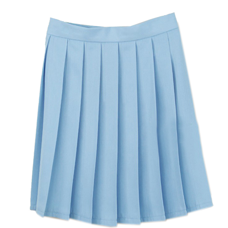 Aliexpress.com : Buy Cosplay light blue pleated skirt high waist ...