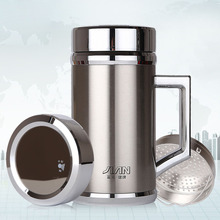 480ml Drinkware Vacuum Flask Thermos Mug 304 Stainless Steel Thermal Insulated Office Cup with Handgrip Filter for tea Water Mug