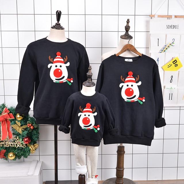 Leuke Kersttrui.Familie Bijpassende Outfits Kerst Trui Leuke Herten Kerstman