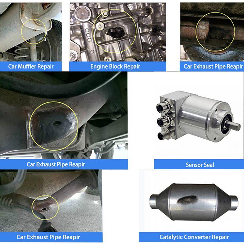 Visbella Exhaust System Pipe Repair Kit High Temperature to 1100C Cement  Crack Sealer Tailpipe Muffler Repair Adhesive Sealant