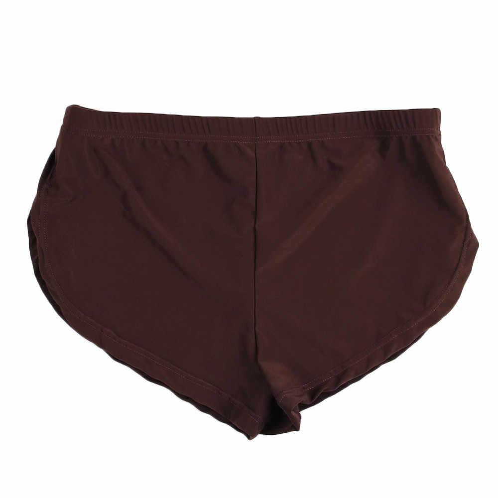 גברים סקסי תחתוני מכתב טהור צבע בוקסר הבליטה פאוץ תחתוני גברים בוקסר homme איש תחתוני cueca masculina