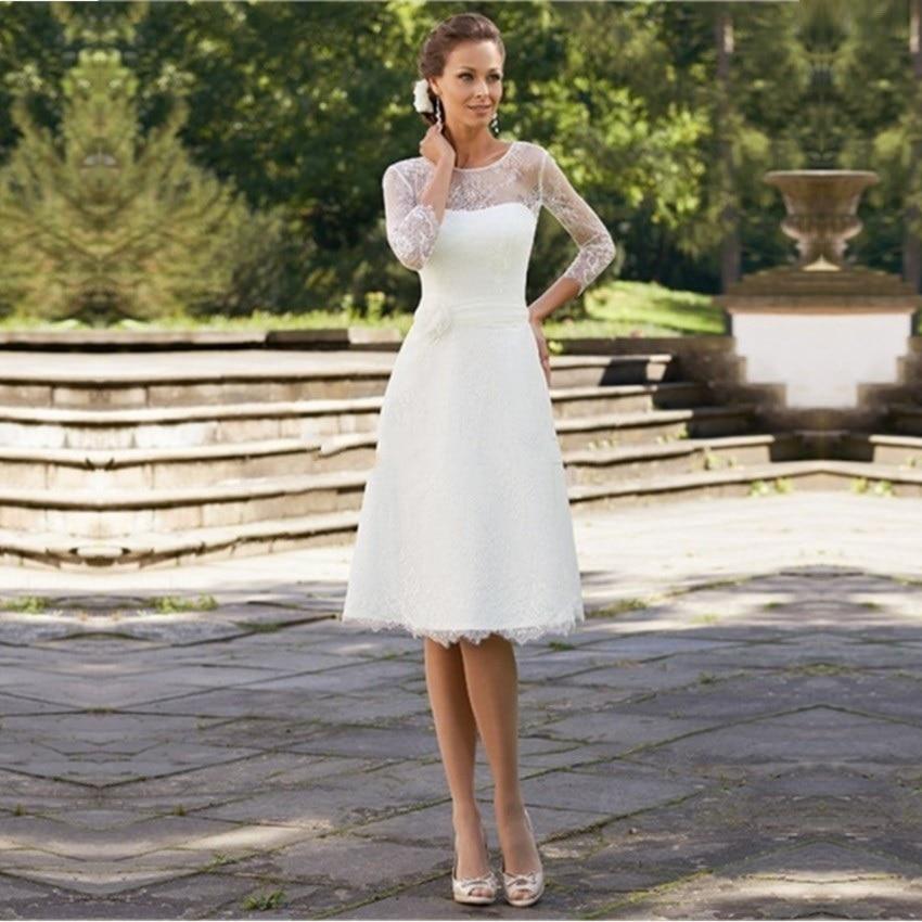Online Buy Wholesale elegant knee length wedding dresses from ...