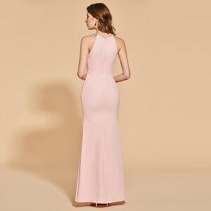 Image 3 - Женское вечернее платье Русалка Dressv, розовое элегантное платье с разрезом спереди и жемчугом, длиной до пола, вечерние свадебные платья с бисером