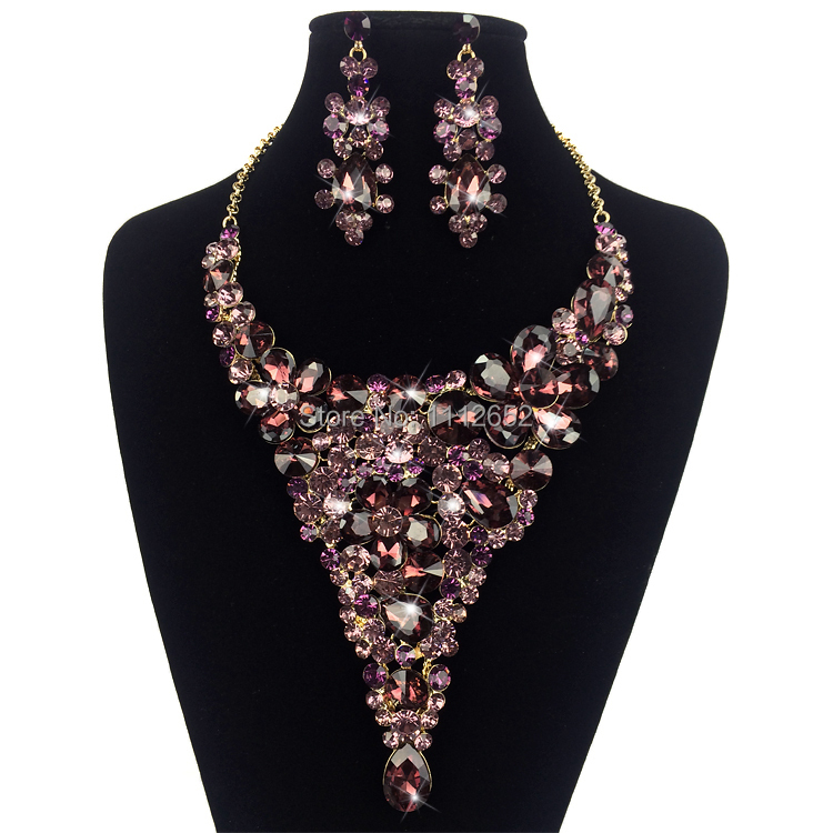 Aliexpress Com Buy New Fashion Necklace Earrings Bridal: Aliexpress.com : Buy Fashion Bridal Jewelry Set Gorgeous