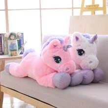 Very Good  White Unicorn Plush Toys Giant Stuffed Animal Horse Toy Soft Unicornio Peluche Doll Gift Children Photo Props