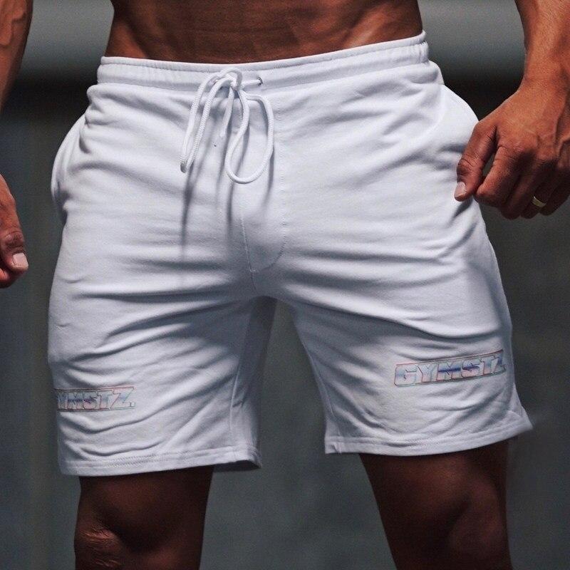 2018 New Men Gyms Fitness Cotton Shorts Boy Casual Fashion Crossfit Short Pants Man Jogger Bodybuilding Workout Beach Sweatpants