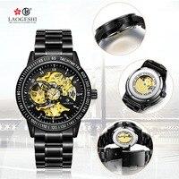 Tourbillon Luxury Đồng Hồ Vàng Dragon & Phoenix Phụ Nữ Xem Men Hollow Khắc Tự Động Cơ Khí Đồng Hồ Đồng Hồ Reloj Hombre