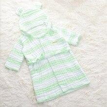 Детский банный халат из муслина, тюлевый банный халат с длинным рукавом и капюшоном, милые халаты для мальчиков и девочек, детская одежда