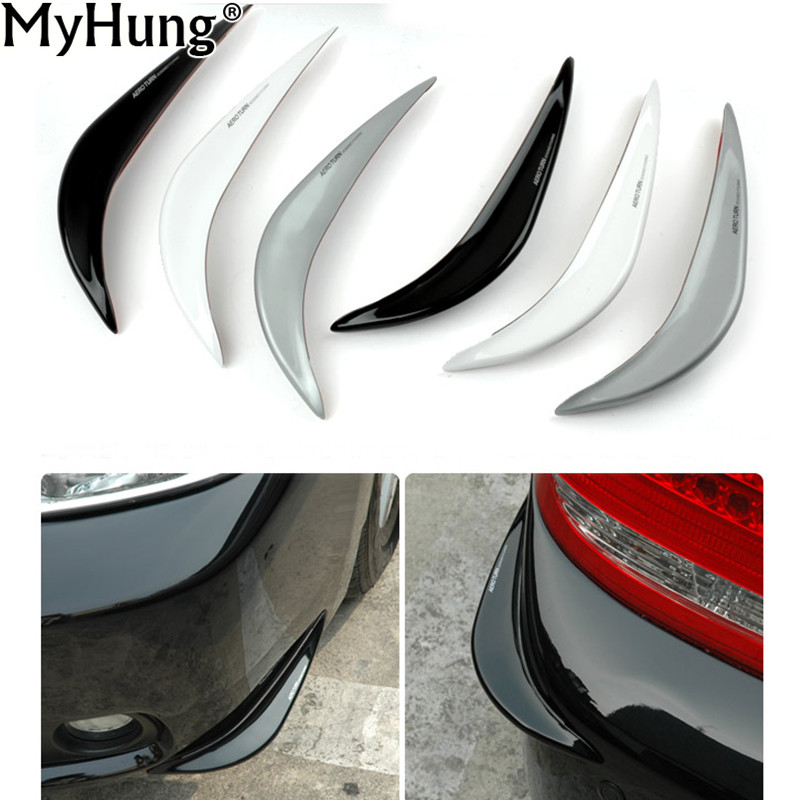 1 Pair Newest Soft Rubber Universal Car Auto Bumper Corner Protector Lip Guard Safety Car