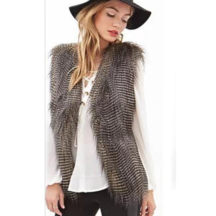 Grey Fur Waistcoat