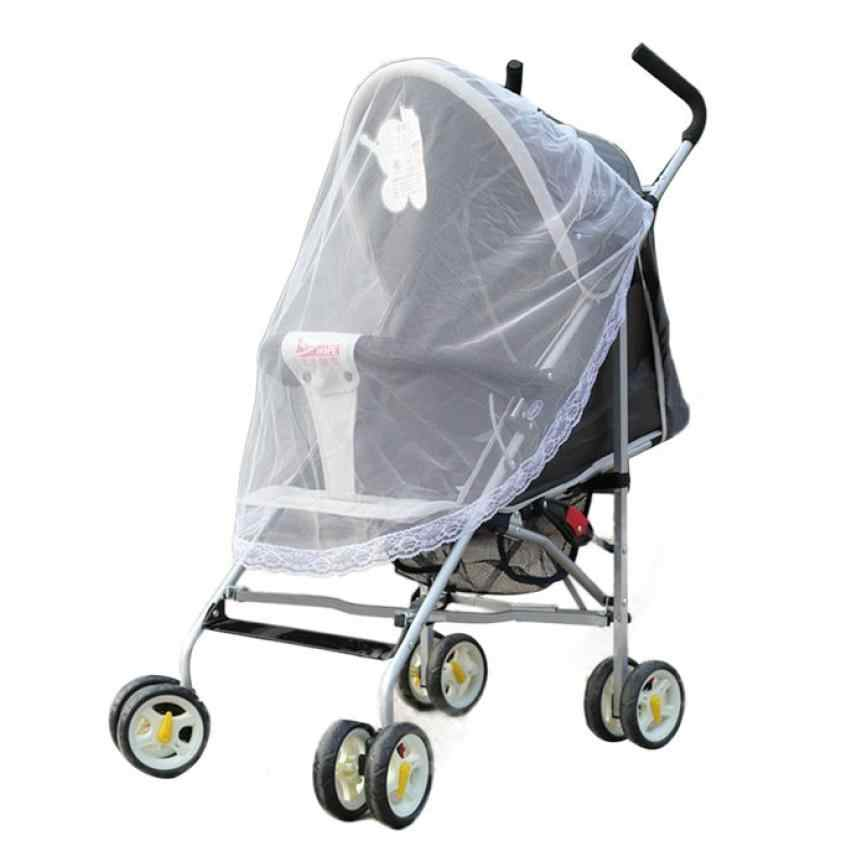 2018 New Qualified Summer prevent mosquito Universal Lace Safe Baby Carriage Insect Mosquito Net Baby Stroller Cradle Bed dig662