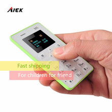 20 pcs/lot AEKU M5 1.0 inch Ultra Thin Fashionable Mobile Positioning Card Phone Micro SIM Support Bluetooth Mini Mobile Phone