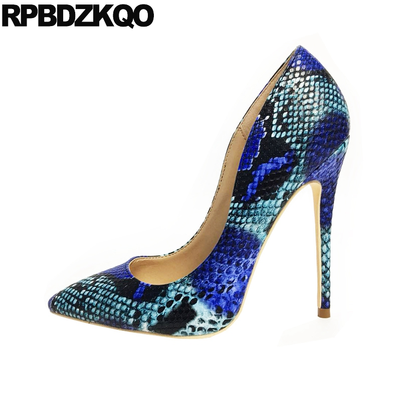 12cm 5 inch blue big size women high heels quality designer shoes stiletto 10 42 8cm exotic dancer pointed toe pumps snakeskin12cm 5 inch blue big size women high heels quality designer shoes stiletto 10 42 8cm exotic dancer pointed toe pumps snakeskin