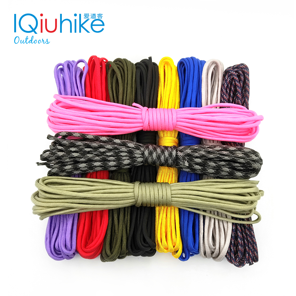 Iqiuhike Paracord 550 Lanyard Rope Survival-Equipment Mil 208-Colors Spec-Type 100FT