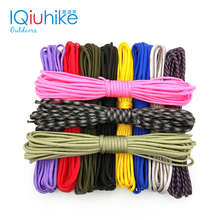IQiuhike 208 kolory Paracord 550 linka spadochronowa smycz lina Mil Spec typ III 7Strand 100FT ClimbingCamping sprzęt do survivalu tanie tanio Paracord 4mm 5 10 20 31 Meters Polyester 7 inner Strands 550lb Camping Equipment 208 Different Colors