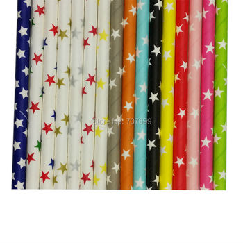 Free shipping Star Paper Straws, Drinking Paper Straws Drinking Straws yellow and 9 colors mix 1800pcs Mix Colors Accept
