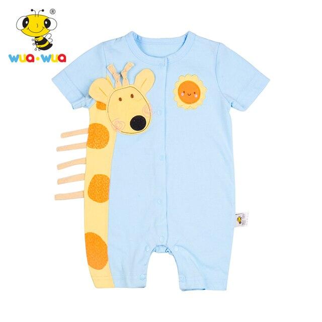 1bfe71519 Algodão Macacão de Bebê Girafa Em Torno Do Pescoço Roupas de Bebê ...
