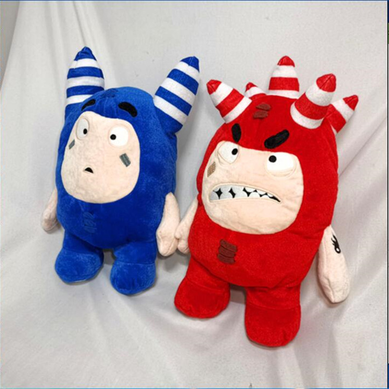 2 Colors Large 35cm Original Oddbods Newt Buuble Pogo Zee Jeff Fuse Slick Plush Dolls Stuffed Toys