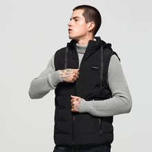 Newly British Winter Fashion Men Vest Hooded Coat Stand Collar Casual Outwear Sleeveless Warm Jackets Thick Velvet Parka