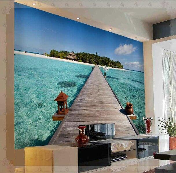 Carta Da Parati Con Sfondo Mare.La Spiaggia Del Mare Bellissimo Paesaggio Sfondo Televisivo Carta