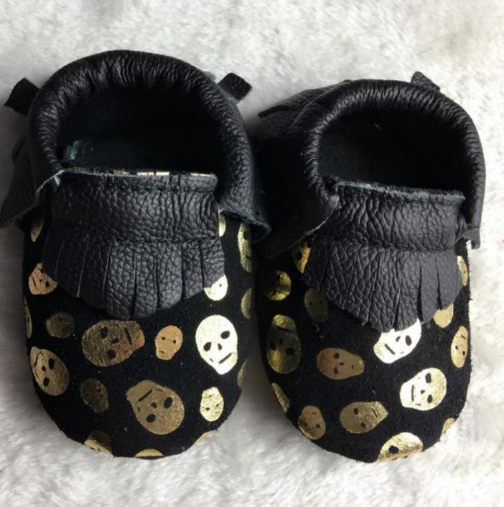 10 estilos Nuevos Mocasines zapatos de Bebé de Cuero Genuino franja Recién Nacid
