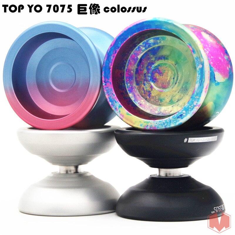 цена 2018 New arrive TOPYO 7075 COLOSSUS YOYO professional 7075 Metal yoyo Professional competition YOYO