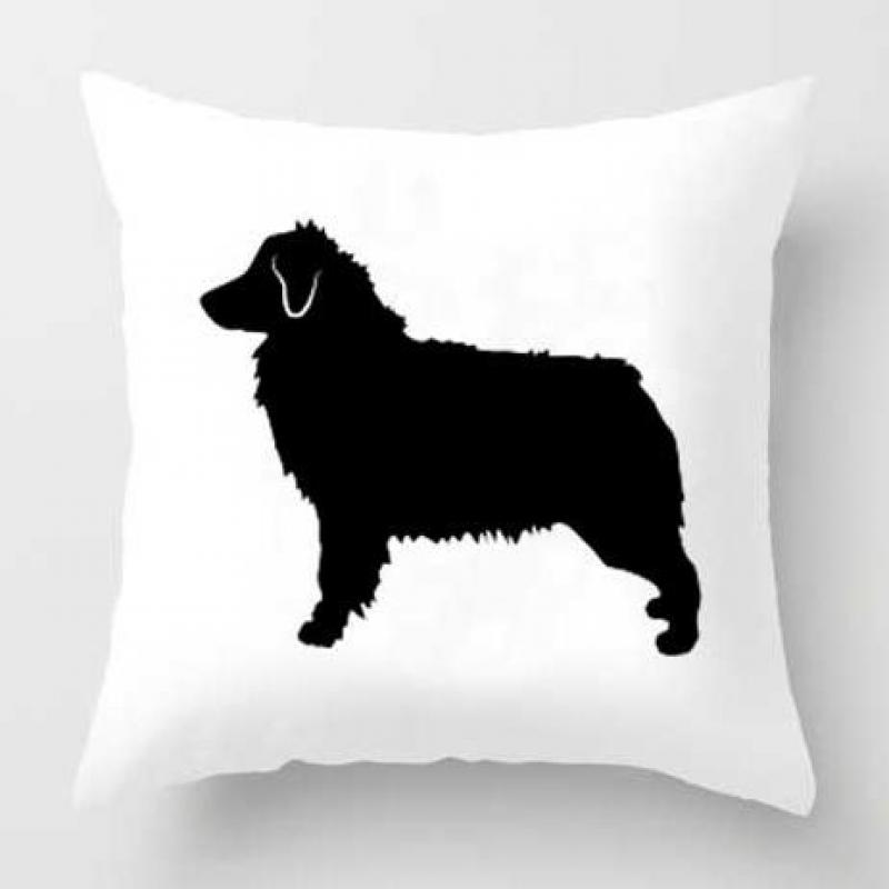 Cute Boston Terrier Pillow Case Bull Terrier Cushion Covers Bedding Frenchie Bulldog Puppy I Love My Dog Supplier For Home Decor