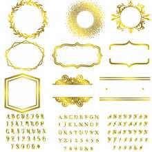Hot Foil Plate Mixed Shape Parentheses Circle Alphabet Metal Cutting Dies Card Album Embossing Scrapbooking New 2019