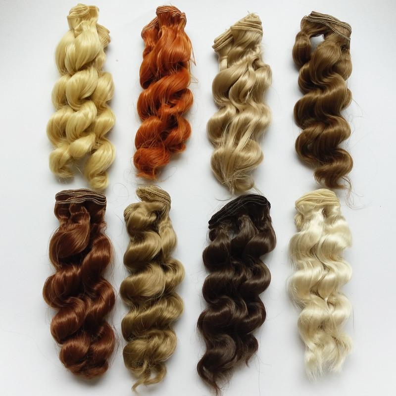1PCS 15CM κούκλες περούκες SD BJD κούκλα τρίχας υψηλής θερμοκρασίας σύρμα χειροποίητο κούκλα σγουρά μαλλιά