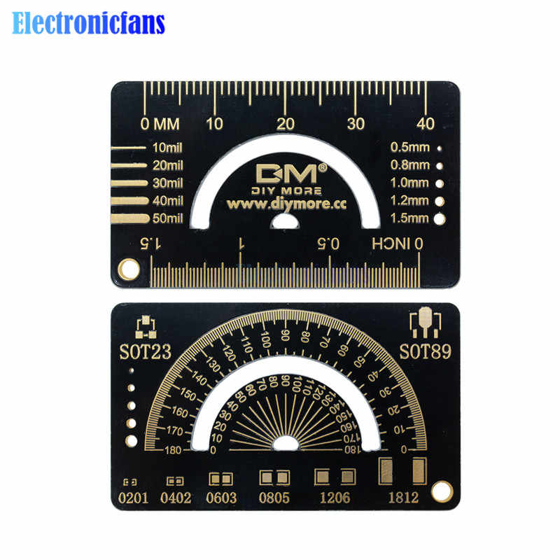 4CM 1.5 INCH PCB Ruler Measuring Tool Multifunctional PCB Ruler Resistor Capacitor Chip IC SMD For Electronic Engineers