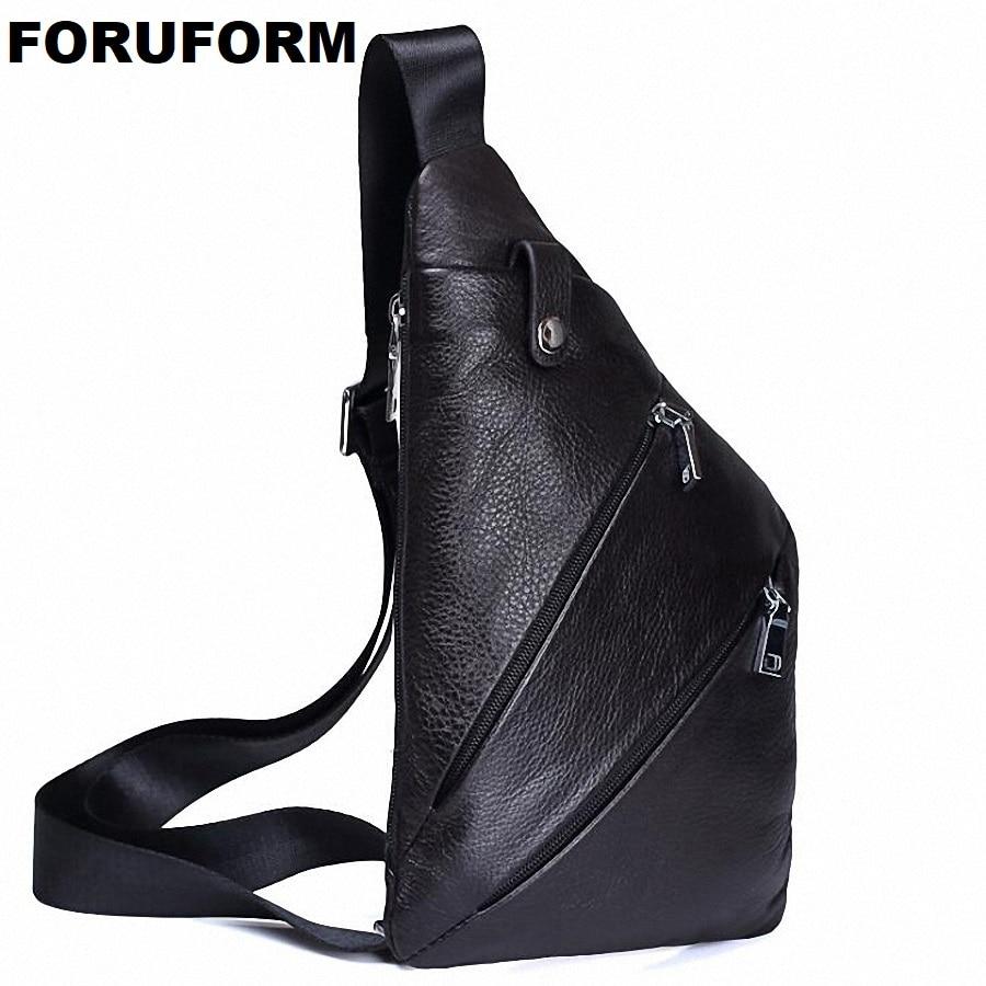 Genuine Leather Men Bag Brand Handbag Men Chest Pack Messenger Shoulder Bag Belt Waist Bag Travel Crossbody Bag LI-1993