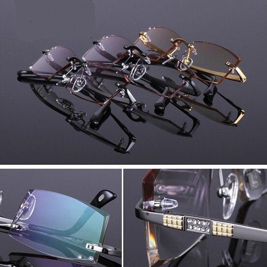 Lunettes de vue montures diamant tranchant affaires élite séjour titane lunettes cadres hommes décorations lunettes optiques