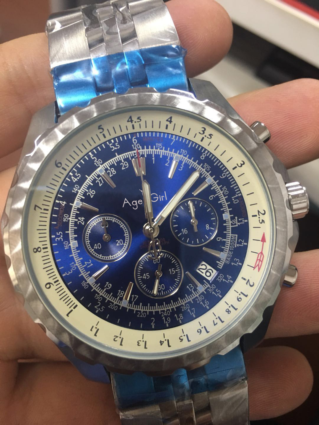 Luxury Brand New Men Watch Automatic Mechanical Chronograph Stopwatch Black Blue Stainless Steel Sapphire Sport Gent Watches AAALuxury Brand New Men Watch Automatic Mechanical Chronograph Stopwatch Black Blue Stainless Steel Sapphire Sport Gent Watches AAA