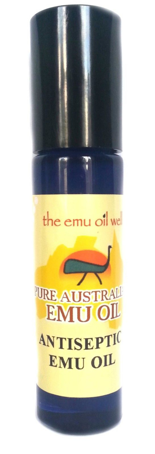 Antiseptic Emu Oil 10ml with Manuka & Tea Tree for minor skin infections free ship image