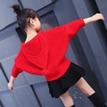 New 2017 Girls Sweaters Children's Hooded Pullover Sweater Girls pullover baby girls Autumn&Winter Clothes Kids Coat For 2-10Age